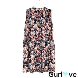 NWT Xhilaration Floral Sleeveless Halter Dress S